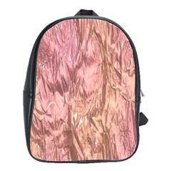 Crumpled Foil Pink School Bags(Large)