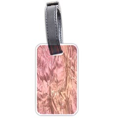 Crumpled Foil Pink Luggage Tags (Two Sides)