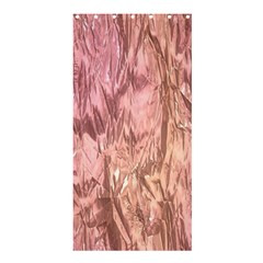 Crumpled Foil Pink Shower Curtain 36  x 72  (Stall)