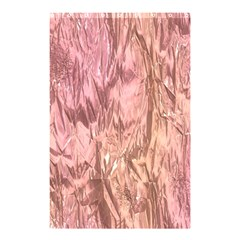 Crumpled Foil Pink Shower Curtain 48  X 72  (small)