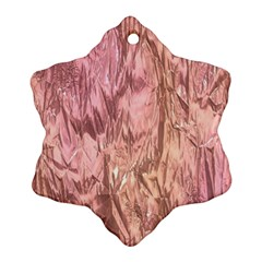 Crumpled Foil Pink Snowflake Ornament (2-Side)