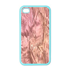 Crumpled Foil Pink Apple iPhone 4 Case (Color)