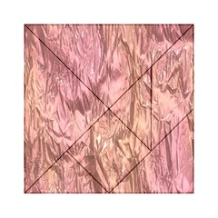Crumpled Foil Pink Acrylic Tangram Puzzle (6  x 6 )