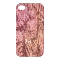 Crumpled Foil Pink Apple iPhone 4/4S Premium Hardshell Case