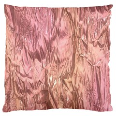 Crumpled Foil Pink Large Cushion Cases (One Side)