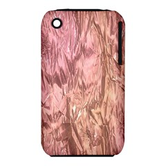 Crumpled Foil Pink Apple iPhone 3G/3GS Hardshell Case (PC+Silicone)
