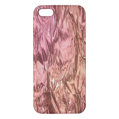 Crumpled Foil Pink Apple iPhone 5 Premium Hardshell Case