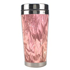 Crumpled Foil Pink Stainless Steel Travel Tumblers
