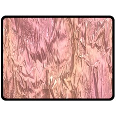 Crumpled Foil Pink Double Sided Fleece Blanket (Large)