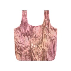 Crumpled Foil Pink Full Print Recycle Bags (S)