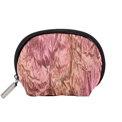 Crumpled Foil Pink Accessory Pouches (Small)