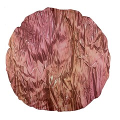 Crumpled Foil Pink Large 18  Premium Flano Round Cushions