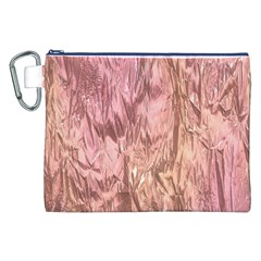 Crumpled Foil Pink Canvas Cosmetic Bag (XXL)