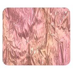 Crumpled Foil Pink Double Sided Flano Blanket (Small)