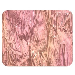 Crumpled Foil Pink Double Sided Flano Blanket (Medium)