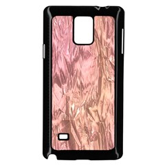 Crumpled Foil Pink Samsung Galaxy Note 4 Case (Black)