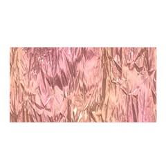 Crumpled Foil Pink Satin Wrap