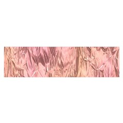 Crumpled Foil Pink Satin Scarf (oblong)