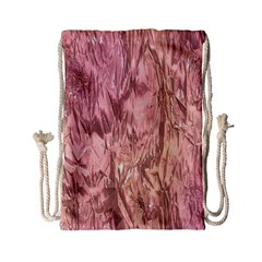 Crumpled Foil Pink Drawstring Bag (small)