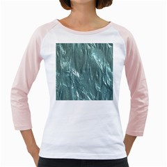 Crumpled Foil Teal Girly Raglans