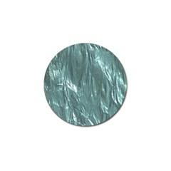 Crumpled Foil Teal Golf Ball Marker