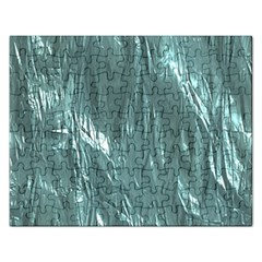 Crumpled Foil Teal Rectangular Jigsaw Puzzl