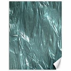 Crumpled Foil Teal Canvas 12  X 16