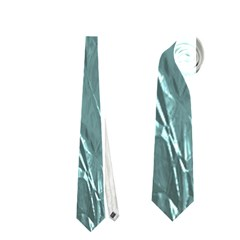 Crumpled Foil Teal Neckties (Two Side)