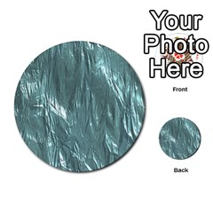 Crumpled Foil Teal Multi Purpose Cards (round)