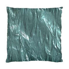 Crumpled Foil Teal Standard Cushion Case (One Side)