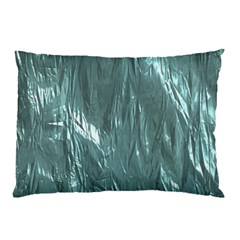 Crumpled Foil Teal Pillow Cases