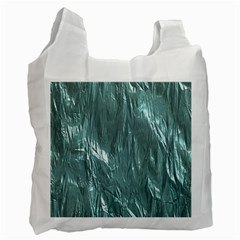 Crumpled Foil Teal Recycle Bag (One Side)