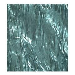 Crumpled Foil Teal Shower Curtain 66  x 72  (Large)
