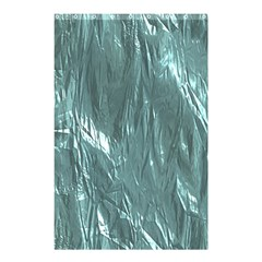 Crumpled Foil Teal Shower Curtain 48  x 72  (Small)
