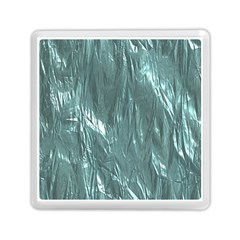 Crumpled Foil Teal Memory Card Reader (square)