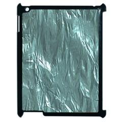 Crumpled Foil Teal Apple iPad 2 Case (Black)