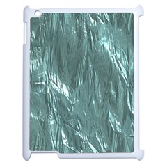 Crumpled Foil Teal Apple iPad 2 Case (White)