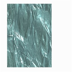 Crumpled Foil Teal Large Garden Flag (two Sides)