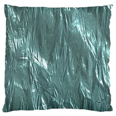 Crumpled Foil Teal Large Cushion Cases (Two Sides)