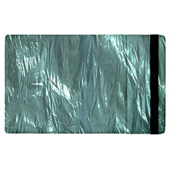 Crumpled Foil Teal Apple iPad 2 Flip Case