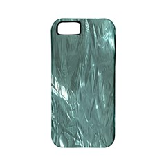 Crumpled Foil Teal Apple iPhone 5 Classic Hardshell Case (PC+Silicone)