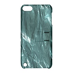Crumpled Foil Teal Apple iPod Touch 5 Hardshell Case with Stand