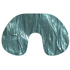 Crumpled Foil Teal Travel Neck Pillows