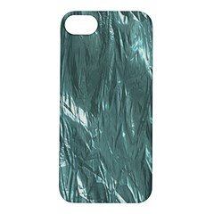 Crumpled Foil Teal Apple iPhone 5S Hardshell Case