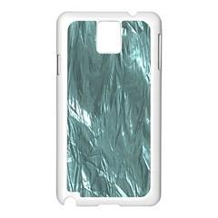 Crumpled Foil Teal Samsung Galaxy Note 3 N9005 Case (White)