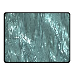 Crumpled Foil Teal Double Sided Fleece Blanket (Small)