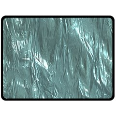Crumpled Foil Teal Double Sided Fleece Blanket (Large)