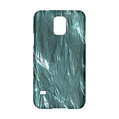 Crumpled Foil Teal Samsung Galaxy S5 Hardshell Case