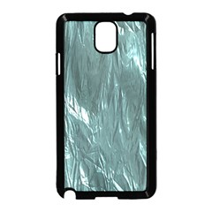 Crumpled Foil Teal Samsung Galaxy Note 3 Neo Hardshell Case (Black)