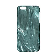 Crumpled Foil Teal Apple iPhone 6/6S Hardshell Case